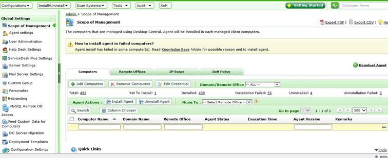 Desktop Central 8 Kurulum Sonrasi ilk Ayarlar 1 | VMware