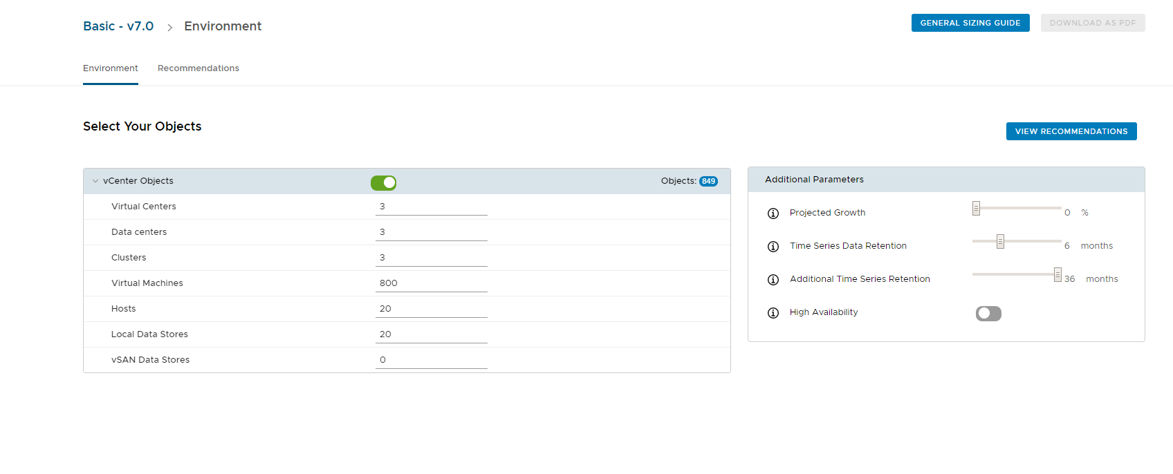 vRealize Operations Sizing Tool | VMware Virtualization Blog