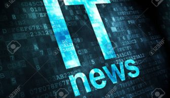 News concept: IT News on digital background