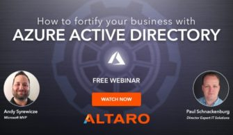 Free Webinar: Azure Active Directory